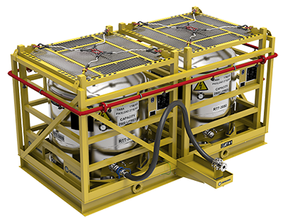 Laydown skid for helicopter refueling systems